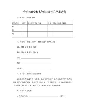 聋校语文第十三册期末复习卷完整版.doc