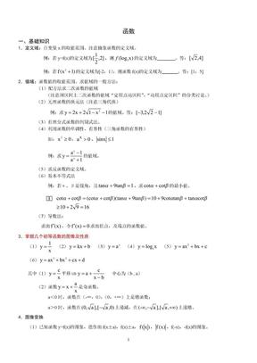 高考数学复习——函数.doc