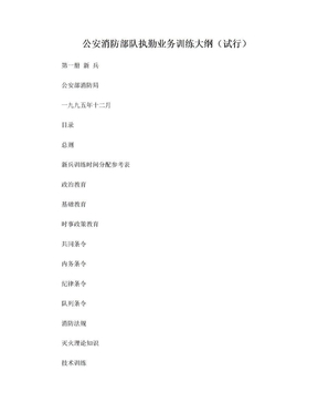 公安消防部队执勤业务训练大纲.doc