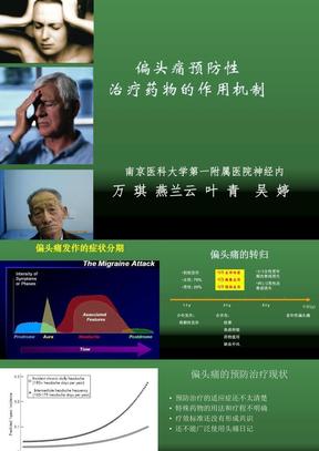 药物机制偏头痛的预防治疗-万琪-2.ppt