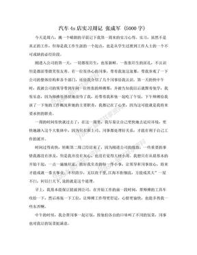 汽车4s店实习周记 张成军 (5000字).doc