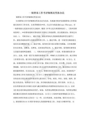 --鎮禁毒工作考評細則及獎懲辦法.doc
