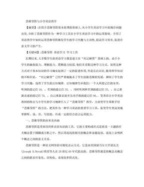 小学英语精美教学论文范文 思维导图与小学英语教学.doc