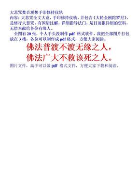 大悲咒梵音观想手印修持仪轨.doc