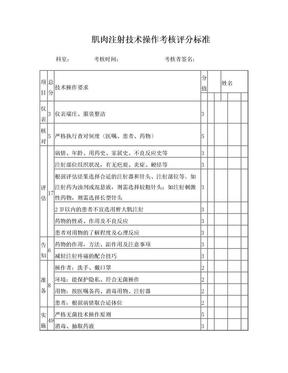 肌肉注射技术操作考核评分表[1].doc