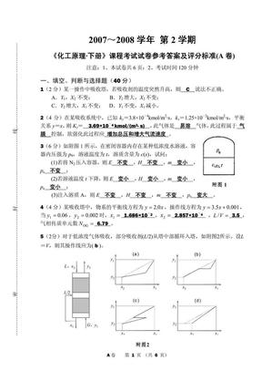 化工原理下册考试试卷及参考答案.pdf