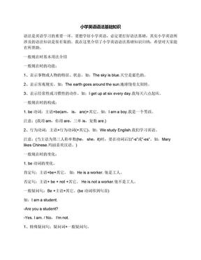 小学英语语法基础知识.docx