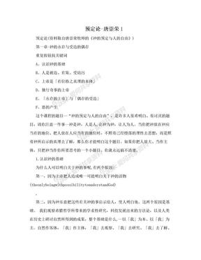 预定论-唐崇荣1.doc