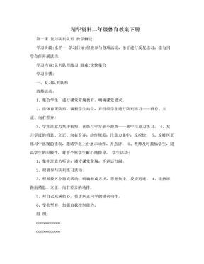 精华资料二年级体育教案下册.doc