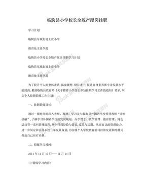 挂职锻炼工作计划(李超).doc