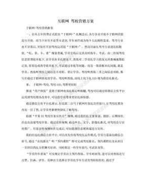互联网 驾校营销方案.doc