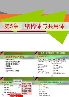第05章 结构体与共用体(黑体).ppt