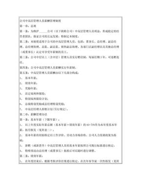 公司中高层工资制度方案.doc