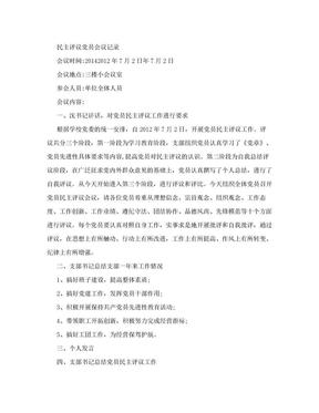 民主评议党员会议记录.doc