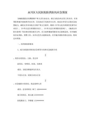 防洪防汛应急预案.doc
