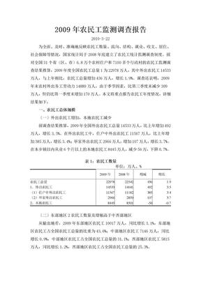 2009年农民工监测调查报告.doc