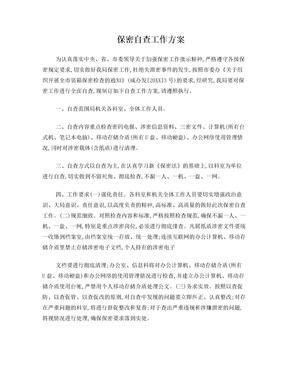 保密自查工作方案.doc