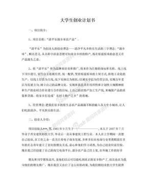 大学生创业计划书111 Word 文档.doc
