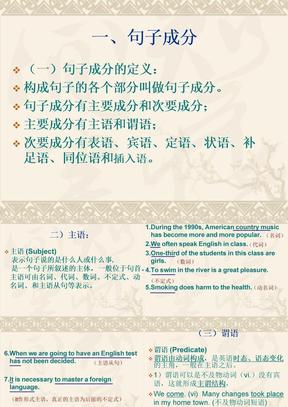英语句子成分及练习课件.ppt