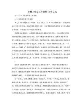 乡村卫生室工作总结  工作总结.doc