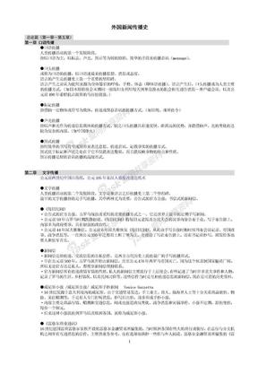 南京大学新闻传播考研之外国新闻传播史(史论).doc