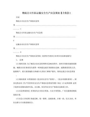 物流公司车队运输安全生产应急预案【合集】2.doc