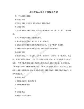 北师大版六年级下册数学教案.doc