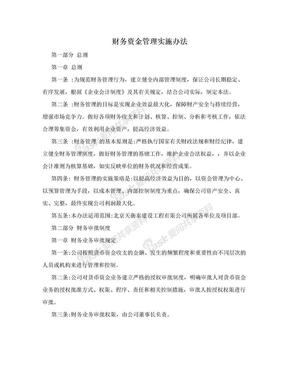 财务资金管理实施办法.doc