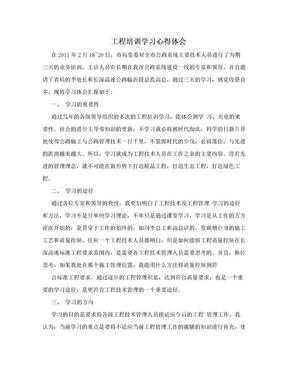 工程培训学习心得体会.doc