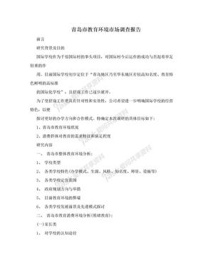 青岛市教育环境市场调查报告.doc
