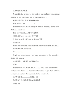 英语万能作文.doc