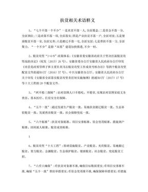 扶贫相关术语释义.doc