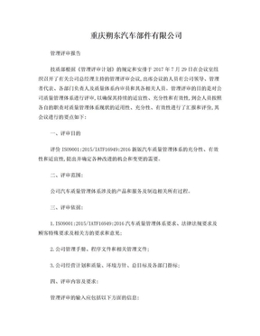 IATF16949新版管理评审报告.doc