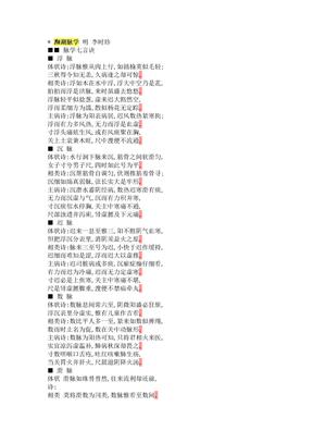 濒湖脉学+明+李时珍.doc