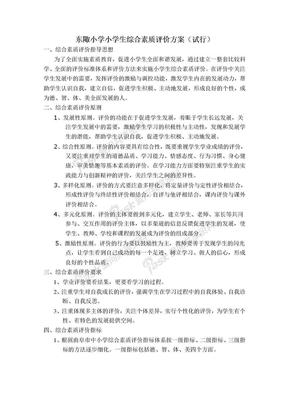 小学生综合素质评价方案.doc
