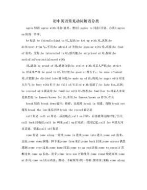 初中英语常见动词短语分类.doc
