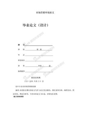 市场营销环境论文.doc