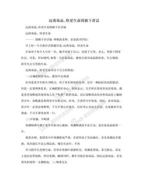 远离毒品,珍爱生命国旗下讲话.doc