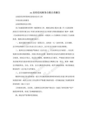 xx县经信局财务自检自查报告.doc