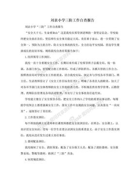 刘表小学三防工作自查报告.doc