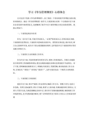 学习华为管理心得体会.doc