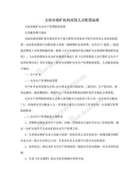 太原市煤矿机构设置人员配置标准.doc