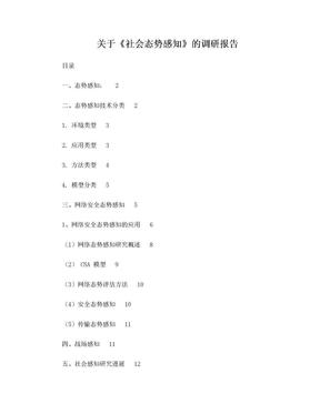 社会态势感知调研报告.doc