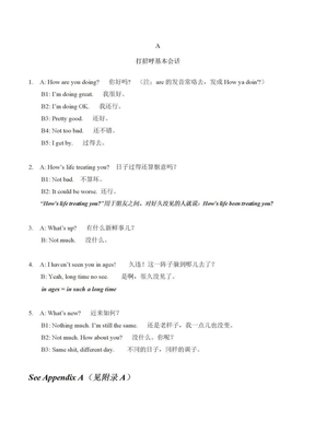1打招呼常用英文对话.docx
