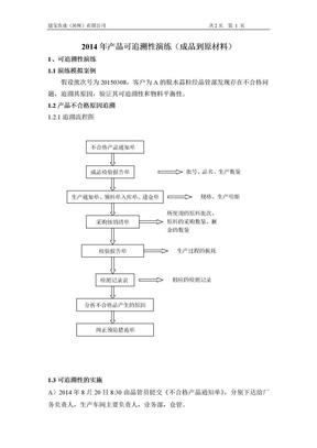 产品可追溯性演练(成品到原材料).doc