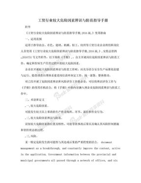 工贸行业较大危险因素辨识与防范指导手册.doc