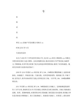 中级职称专业技术总结.doc