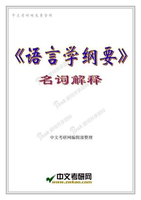 语言学《语言学纲要》名词解释.doc