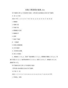 安装工程进度计划表.doc.doc