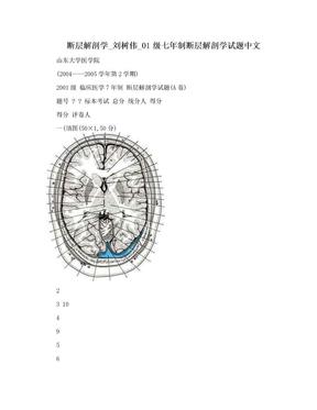断层解剖学_刘树伟_01级七年制断层解剖学试题中文.doc
